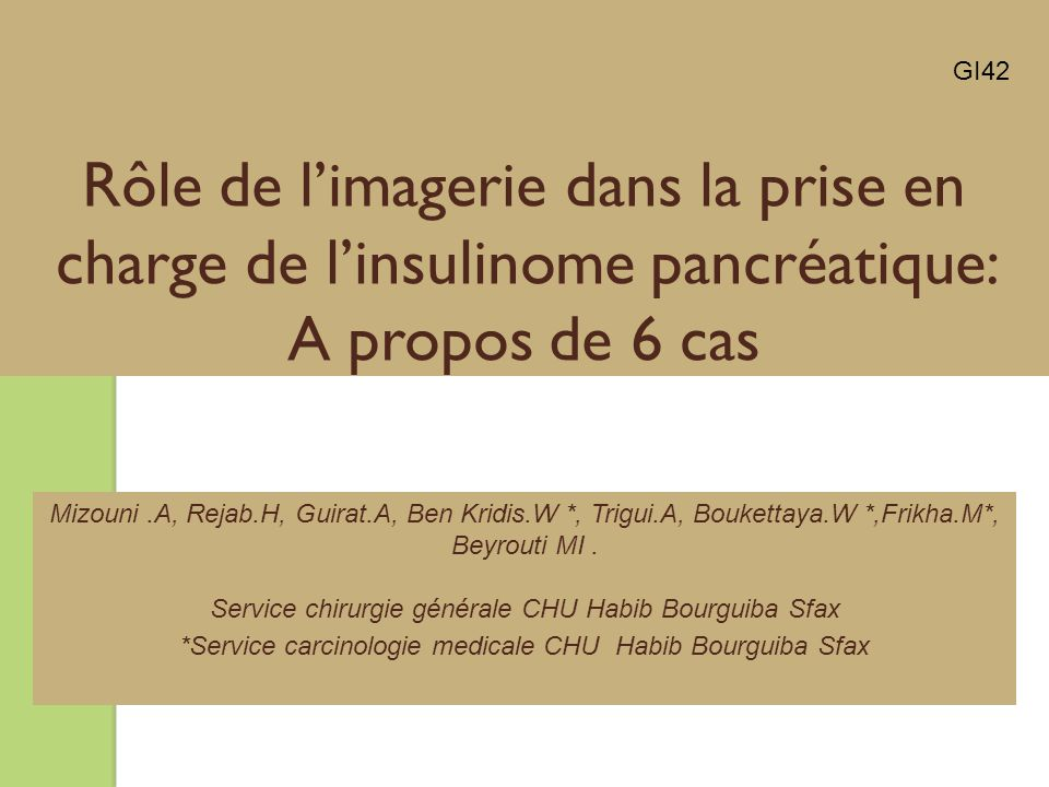 *Service carcinologie medicale CHU Habib Bourguiba Sfax