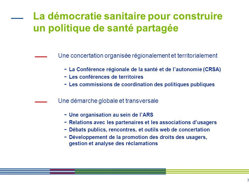 La démocratie sanitaire pour construire un politique de santé partagée