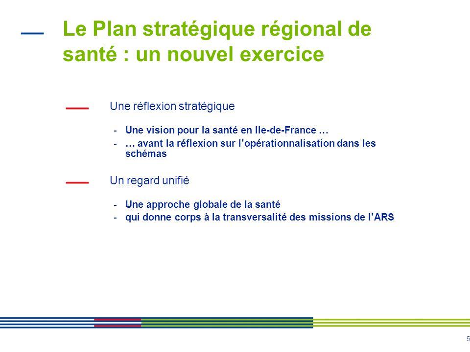 Le Plan stratégique régional de santé : un nouvel exercice