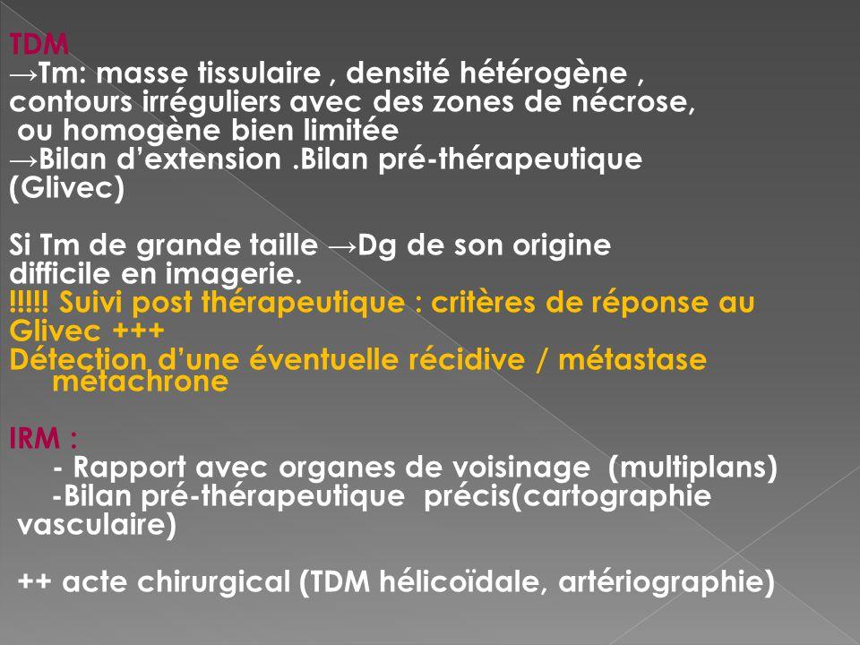 →Tm: masse tissulaire , densité hétérogène ,