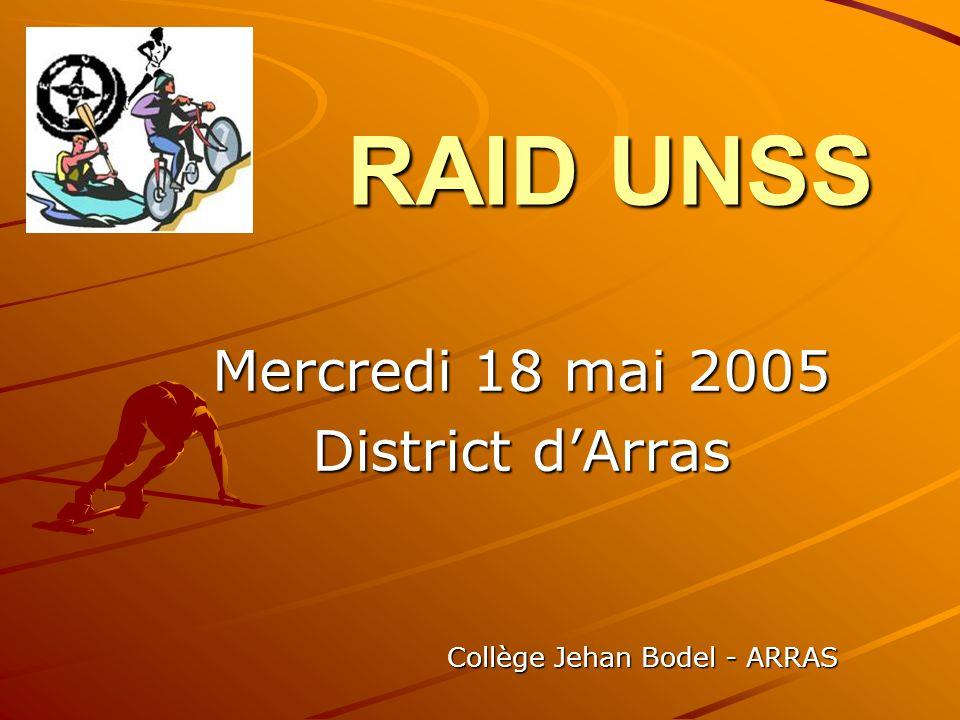 Mercredi 18 mai 2005 District d'Arras