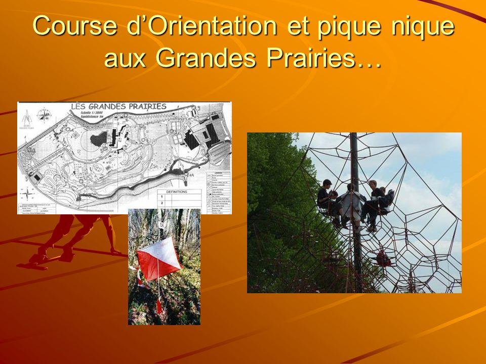 Course d'Orientation et pique nique aux Grandes Prairies…