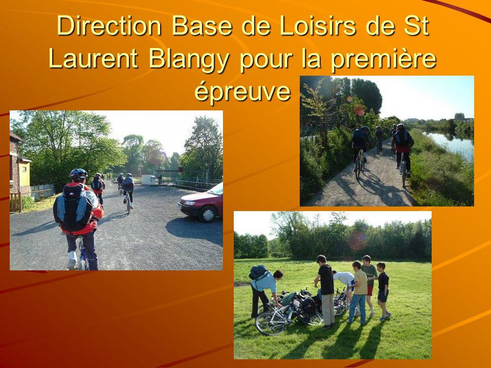 Direction Base de Loisirs de St Laurent Blangy pour la première épreuve