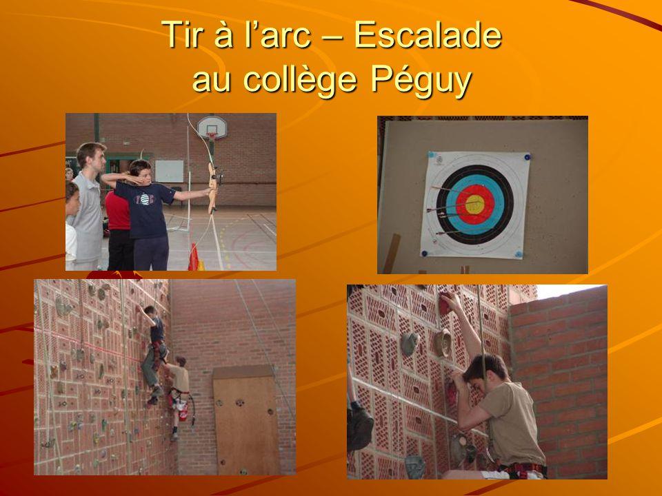 Tir à l'arc – Escalade au collège Péguy