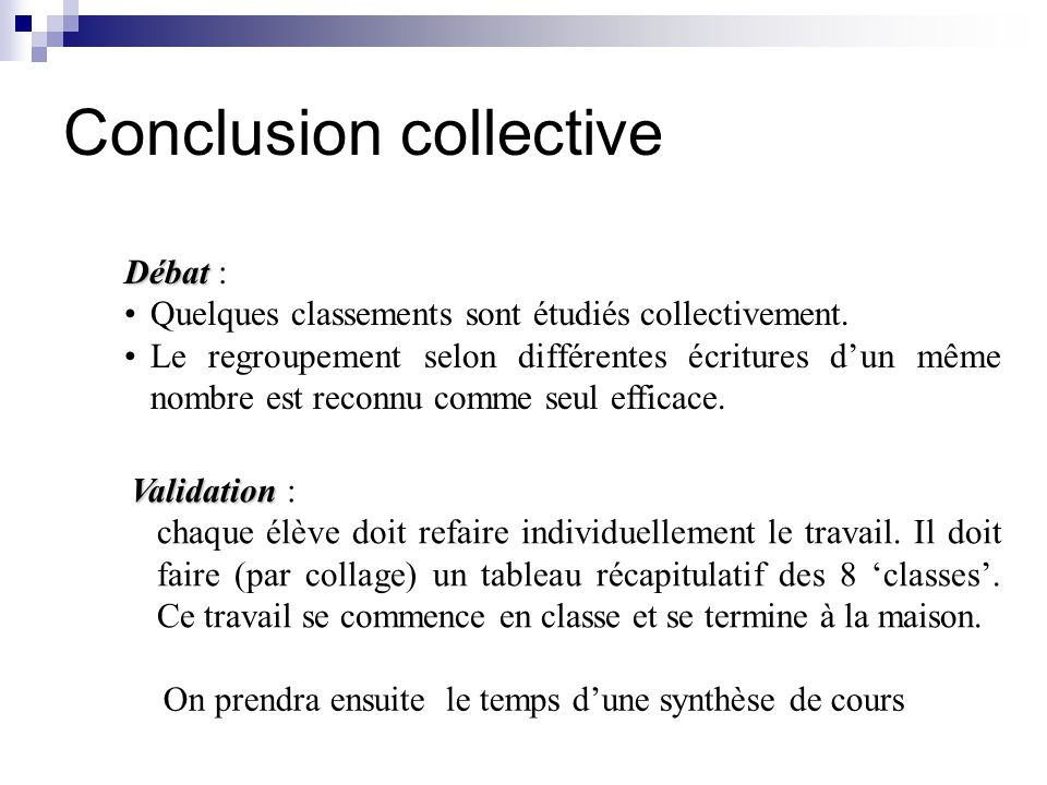 Conclusion collective