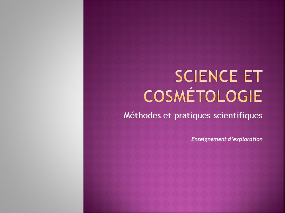 Science et cosmétologie