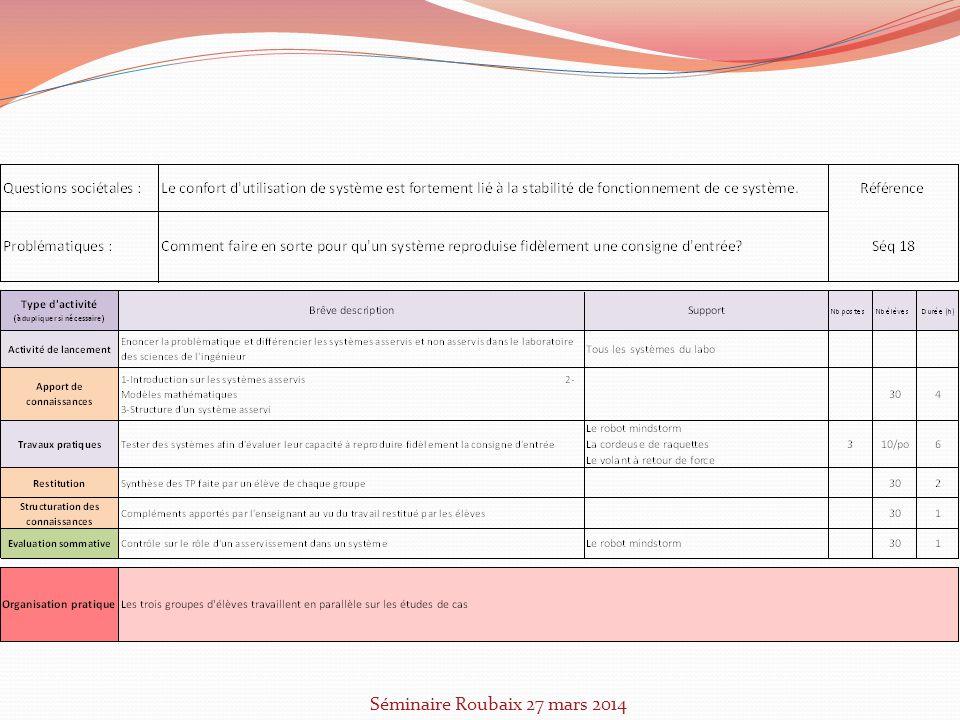 Séminaire Roubaix 27 mars 2014