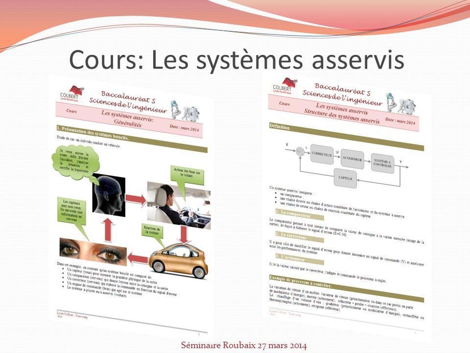 Cours: Les systèmes asservis