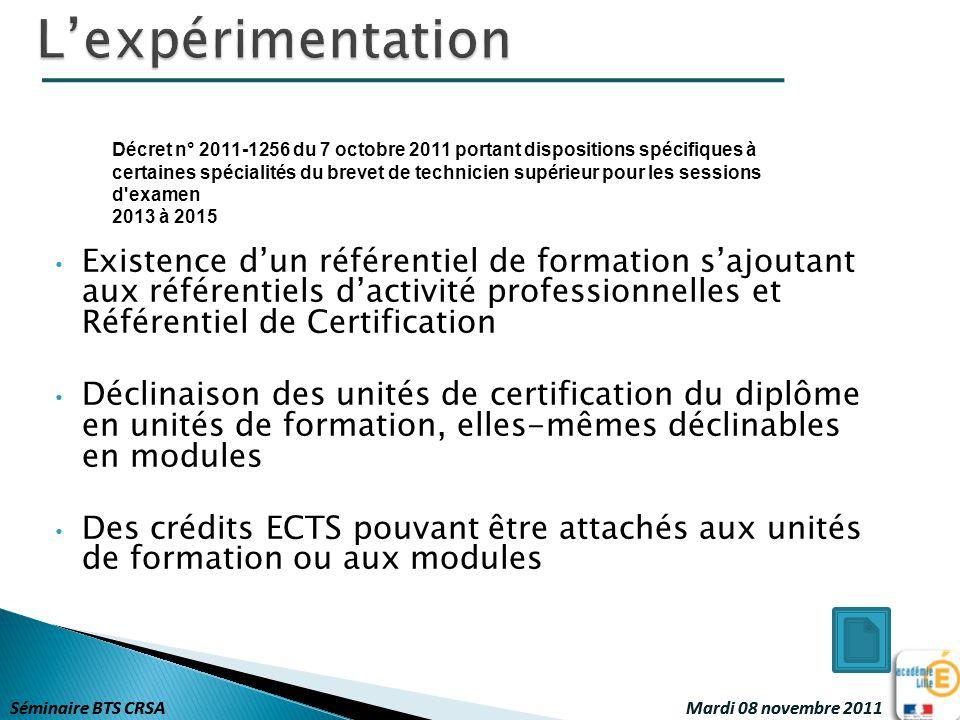 L'expérimentation Décret n° 2011-1256 du 7 octobre 2011 portant dispositions spécifiques à.