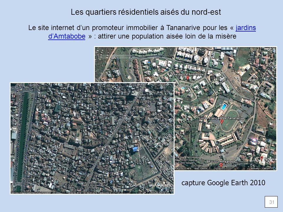 Les quartiers résidentiels aisés du nord-est