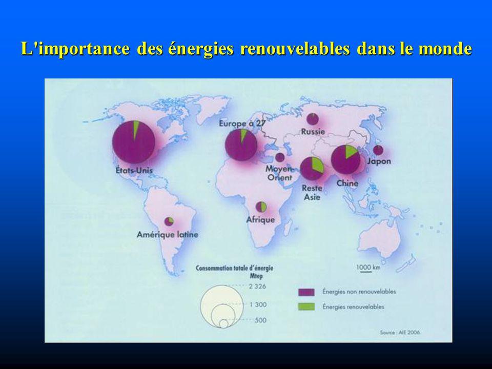 L importance des énergies renouvelables dans le monde