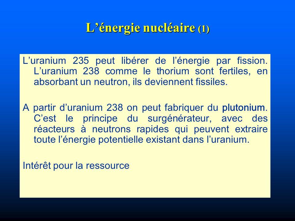 L'énergie nucléaire (1)