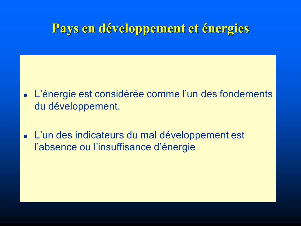 Pays en développement et énergies