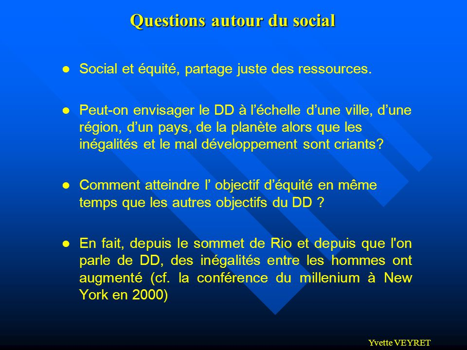 Questions autour du social