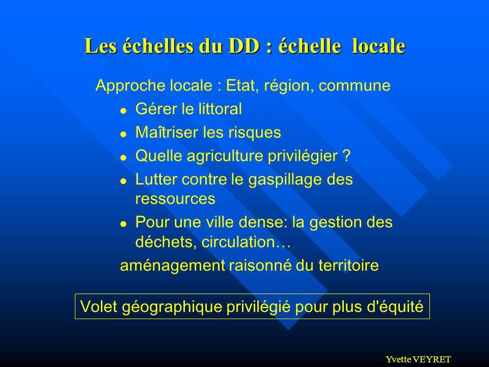 Les échelles du DD : échelle locale
