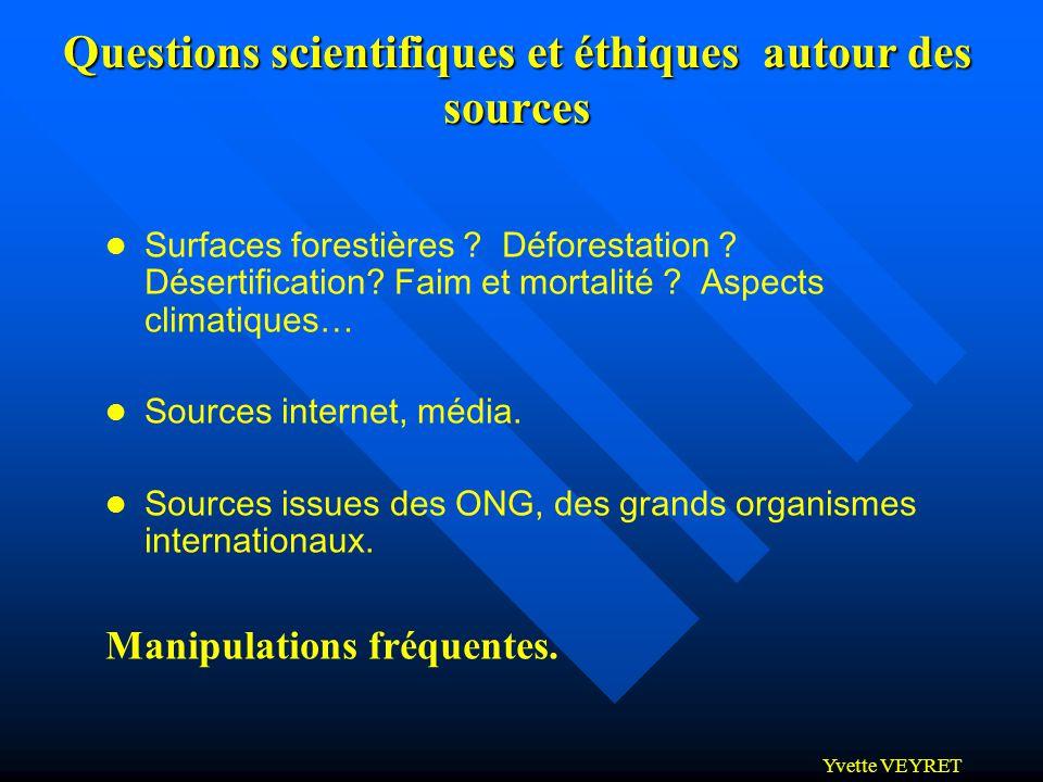 Questions scientifiques et éthiques autour des sources