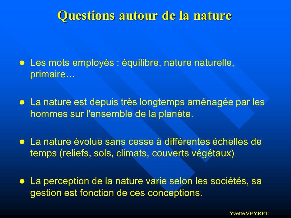 Questions autour de la nature