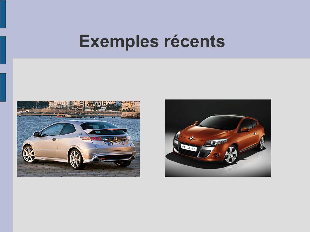 Exemples récents
