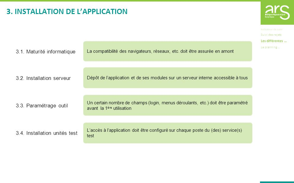3. INSTALLATION DE L'APPLICATION