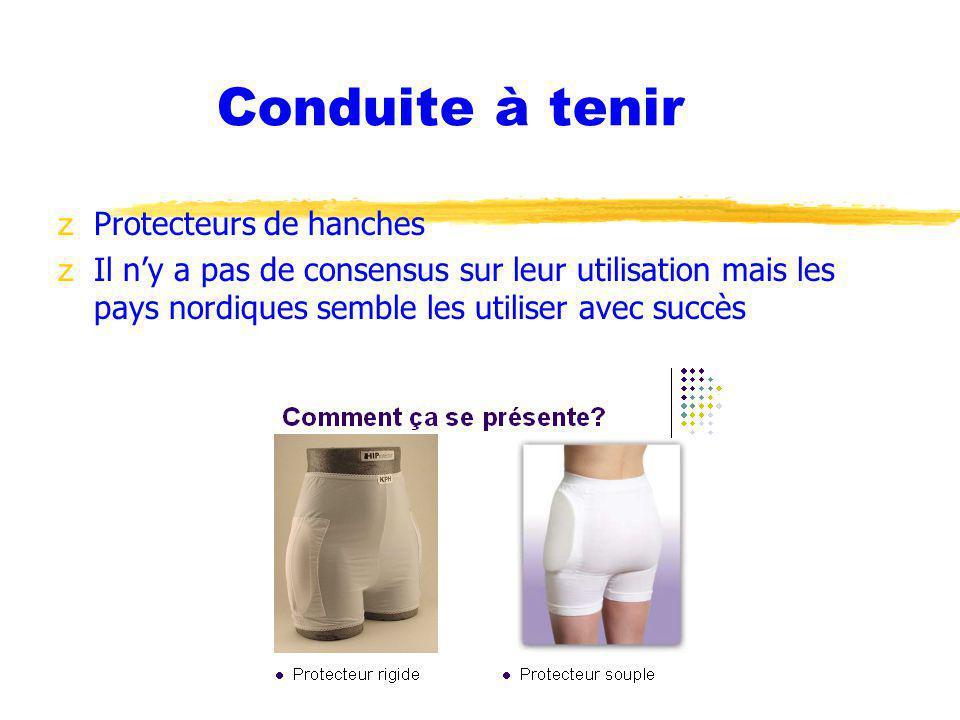 Conduite à tenir Protecteurs de hanches
