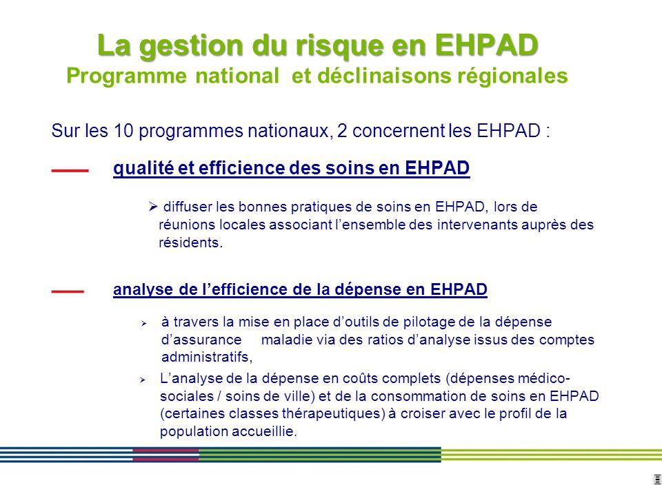 La gestion du risque en EHPAD Programme national et déclinaisons régionales