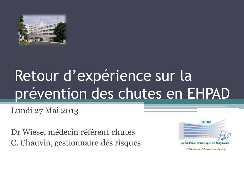 Retour d'expérience sur la prévention des chutes en EHPAD