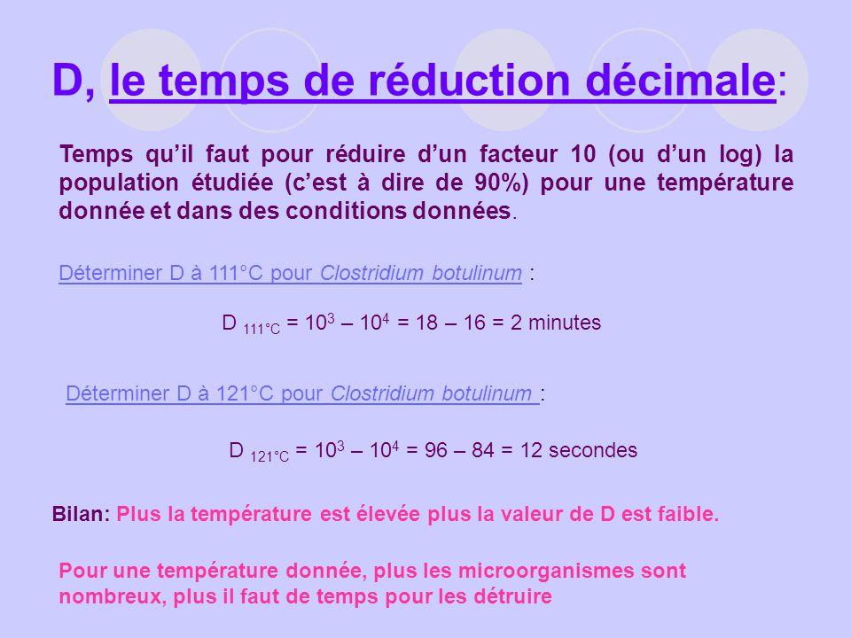 D, le temps de réduction décimale: