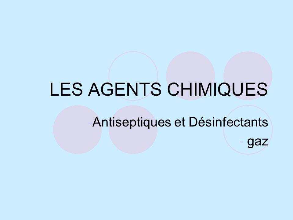Antiseptiques et Désinfectants gaz