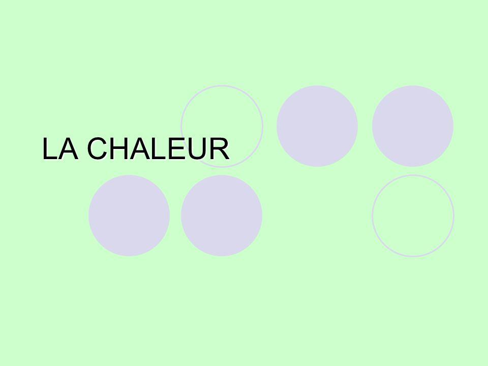 LA CHALEUR