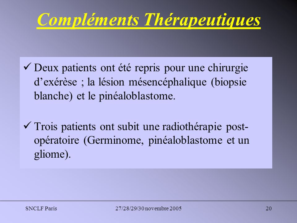 Compléments Thérapeutiques
