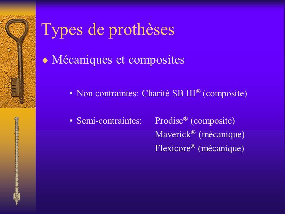 Types de prothèses Mécaniques et composites