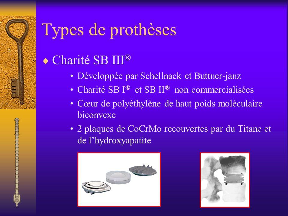 Types de prothèses Charité SB III®