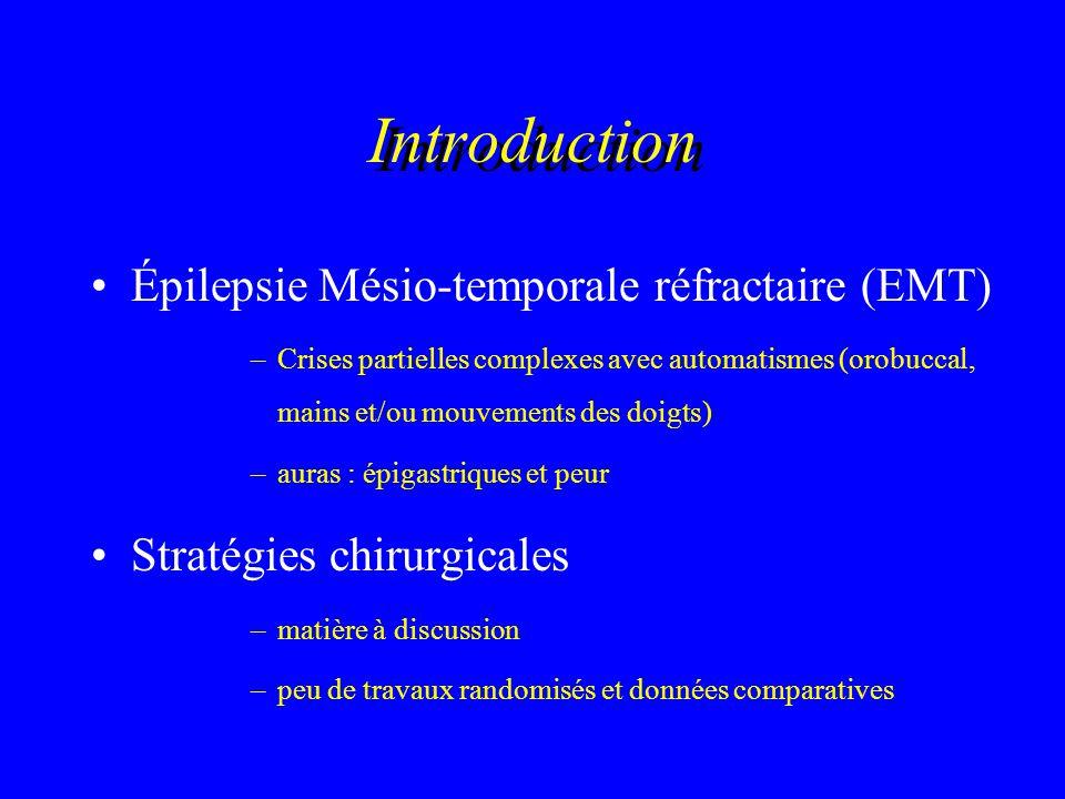 Introduction Épilepsie Mésio-temporale réfractaire (EMT)
