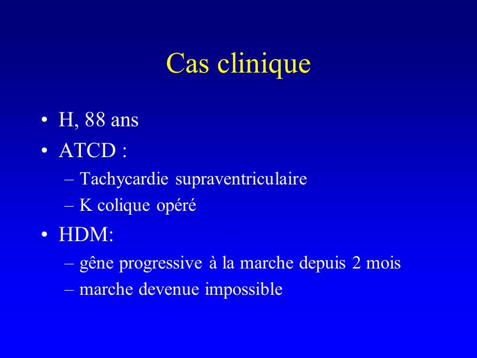 Cas clinique H, 88 ans ATCD : HDM: Tachycardie supraventriculaire