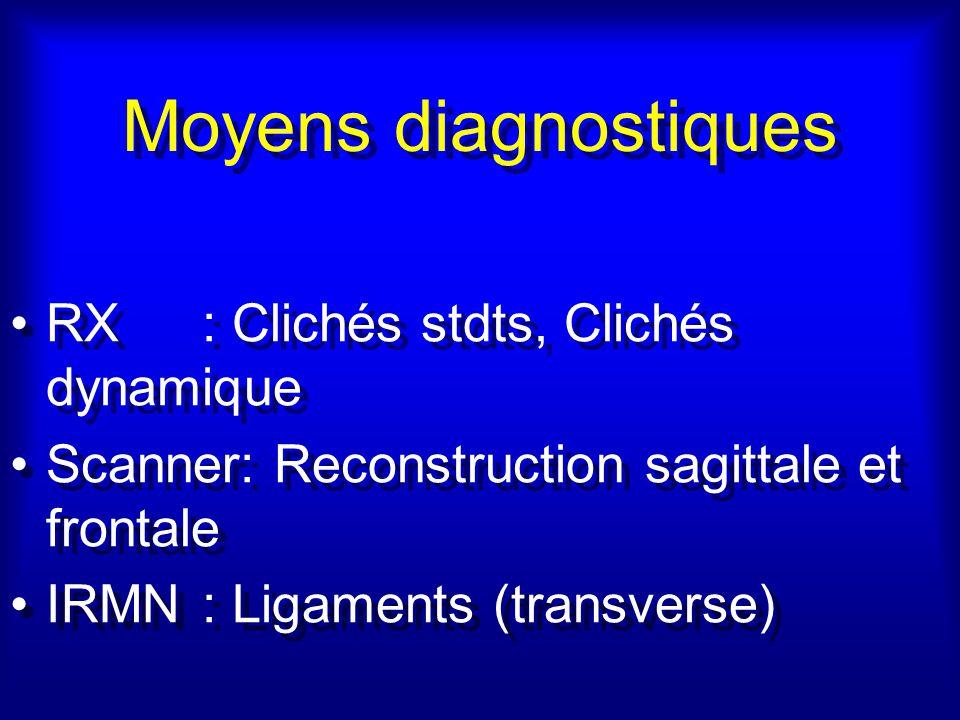 Moyens diagnostiques RX : Clichés stdts, Clichés dynamique