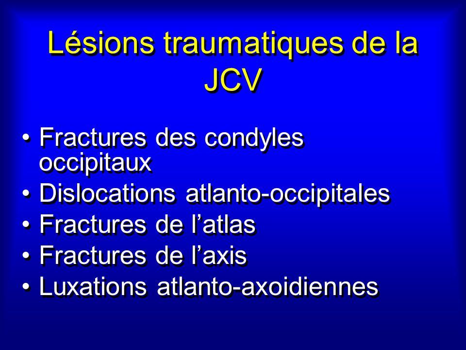Lésions traumatiques de la JCV