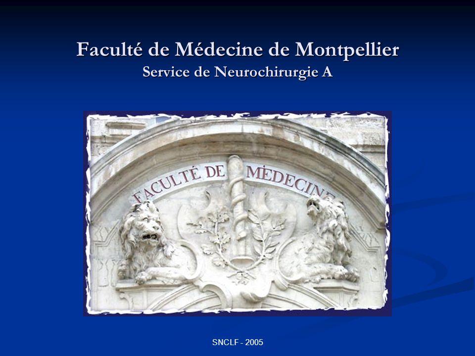 Faculté de Médecine de Montpellier Service de Neurochirurgie A