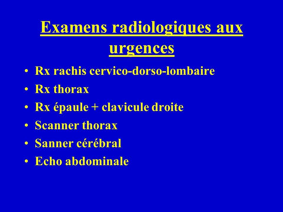 Examens radiologiques aux urgences