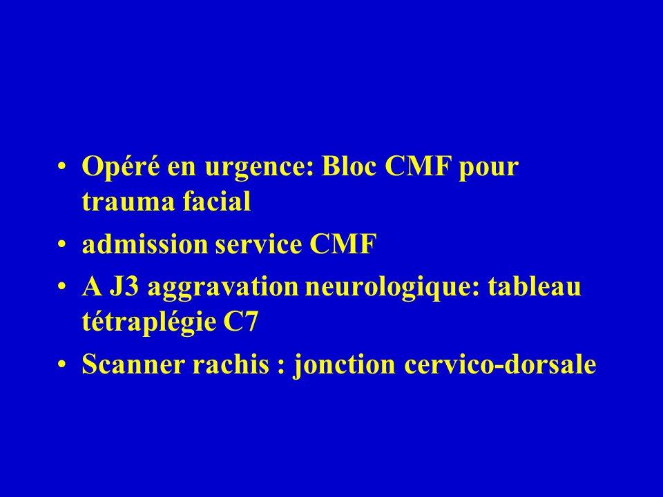 Opéré en urgence: Bloc CMF pour trauma facial
