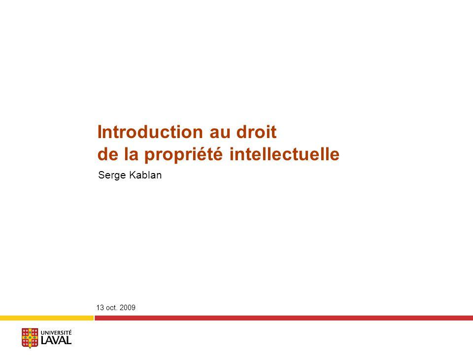 de la propriété intellectuelle