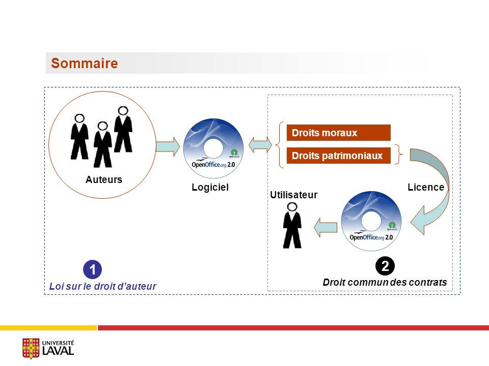 Sommaire 2 1 Droits moraux Droits patrimoniaux Auteurs Logiciel