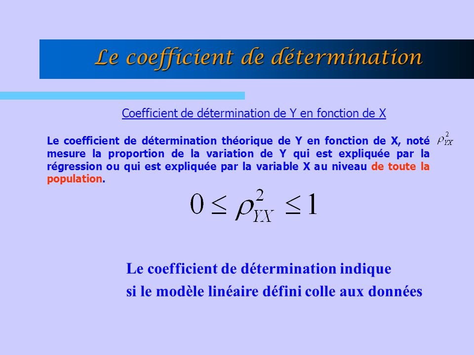Le coefficient de détermination