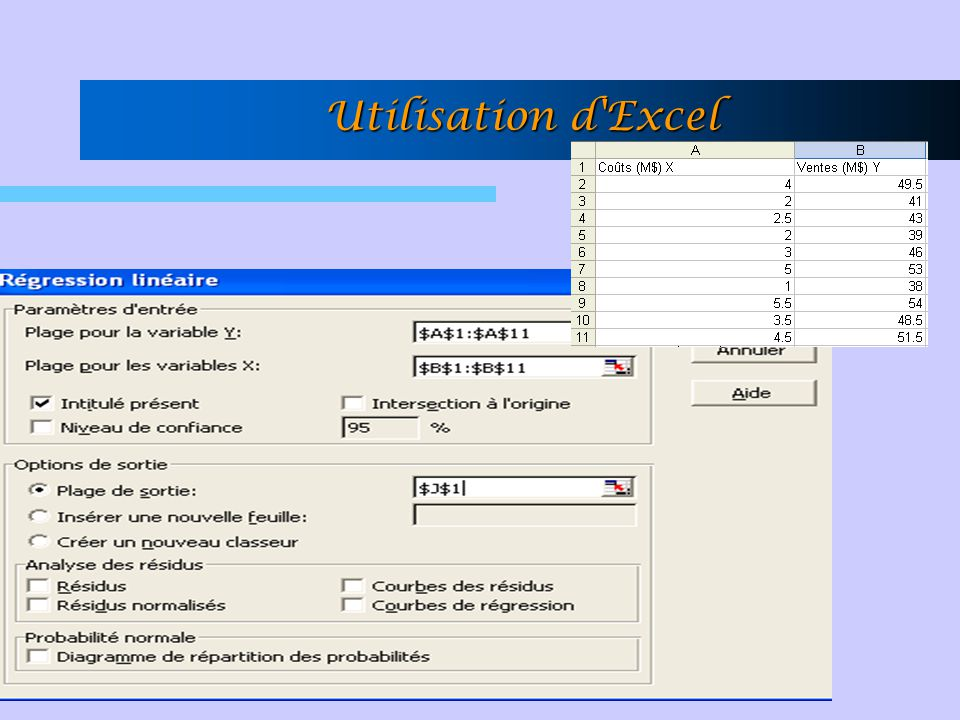 Utilisation d Excel