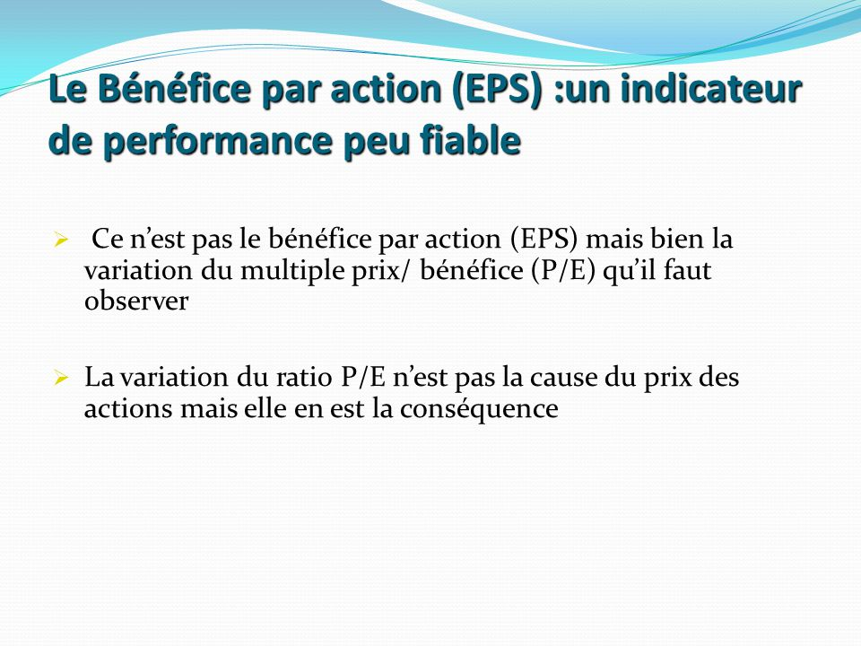 Le Bénéfice par action (EPS) :un indicateur de performance peu fiable