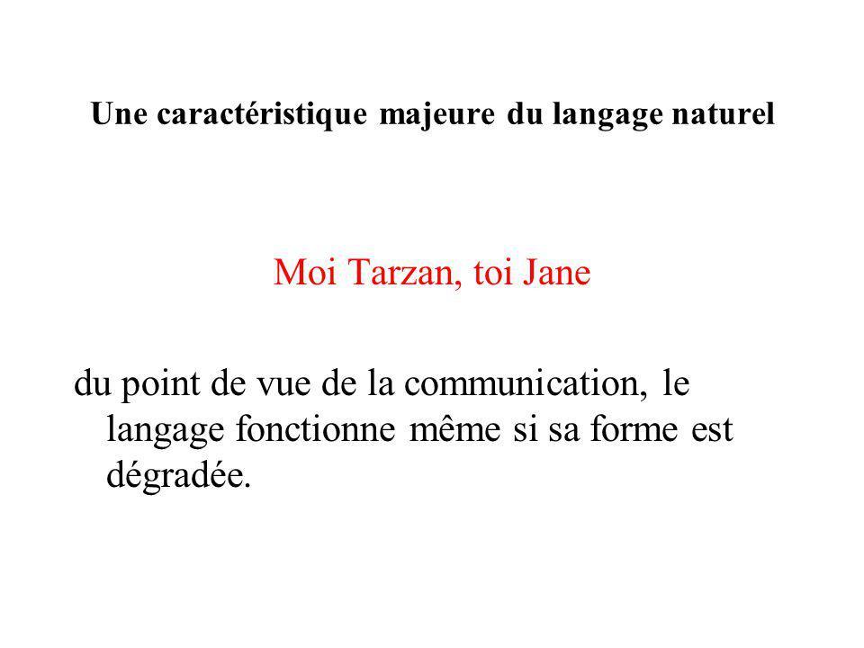Une caractéristique majeure du langage naturel