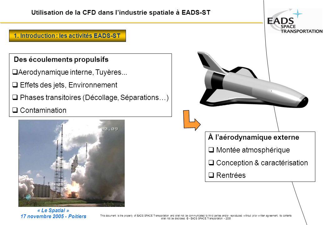 1. Introduction : les activités EADS-ST