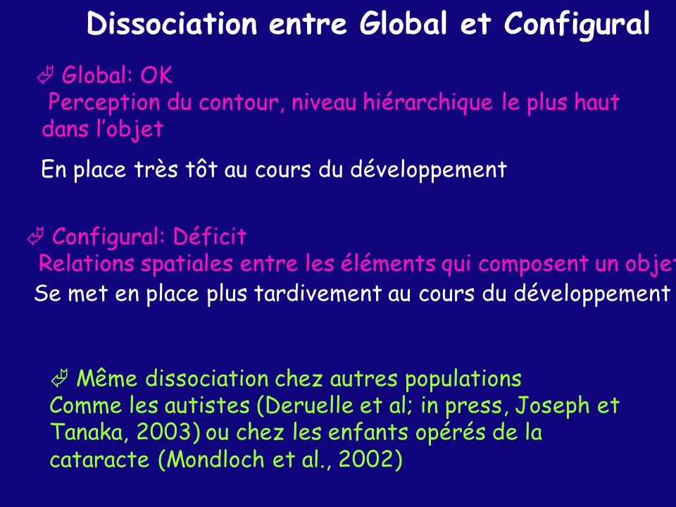 Dissociation entre Global et Configural