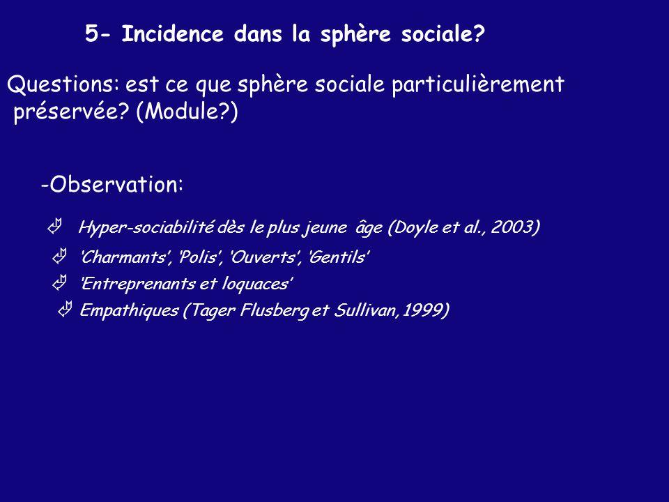 5- Incidence dans la sphère sociale