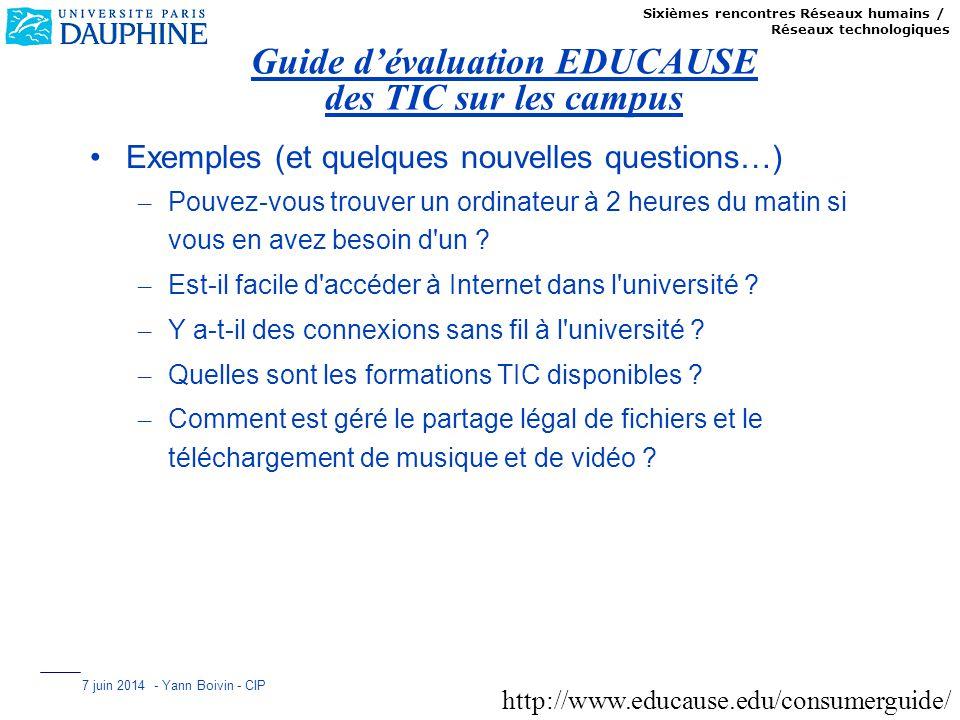 Guide d'évaluation EDUCAUSE des TIC sur les campus