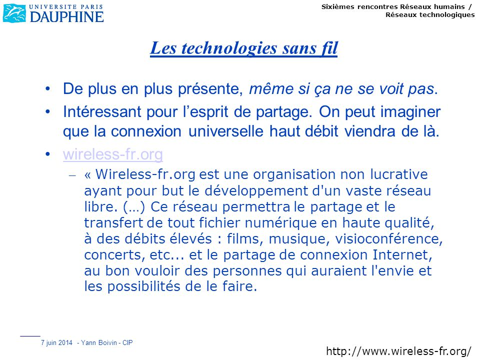 Les technologies sans fil